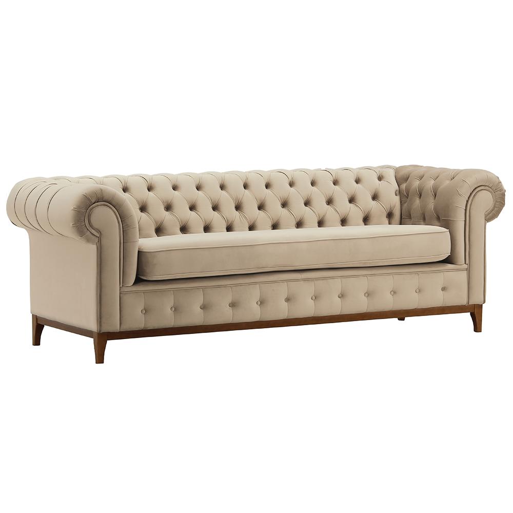 Canapea cu 3-locuri de lux, maro deschis, TIFANY 3