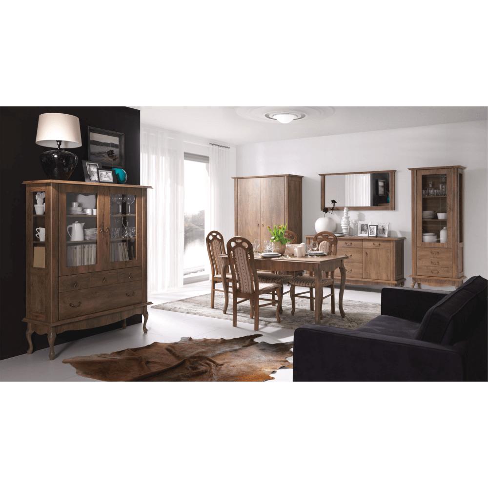 Comoda living in stil baroc Vilar Stejar