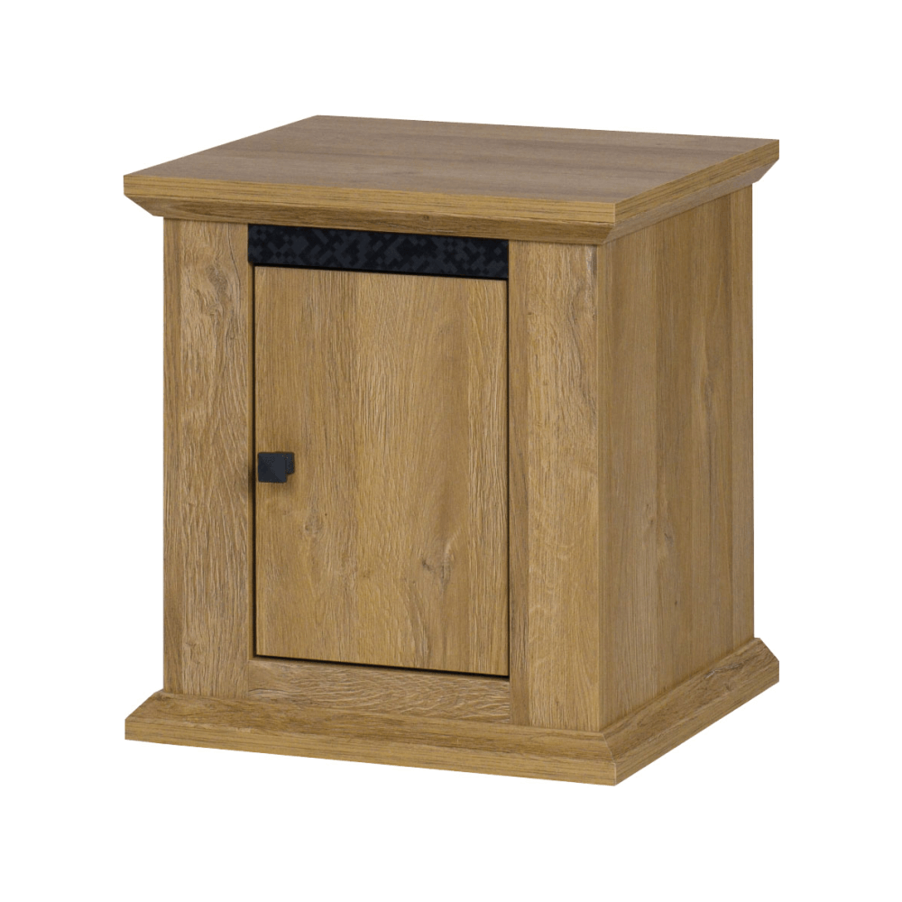 Nočný stolík MZ19, dub grand, LEON