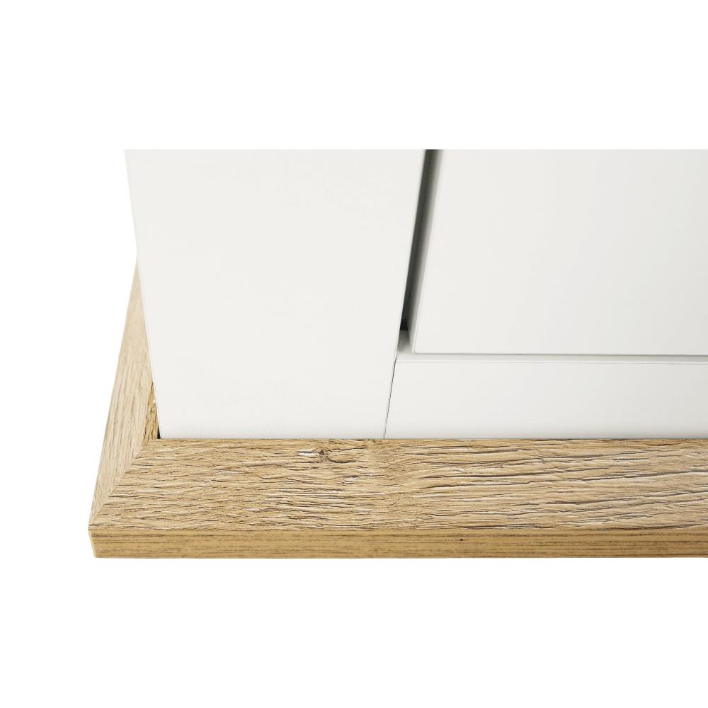 Vitrina Grand Leon Alb/Stejar