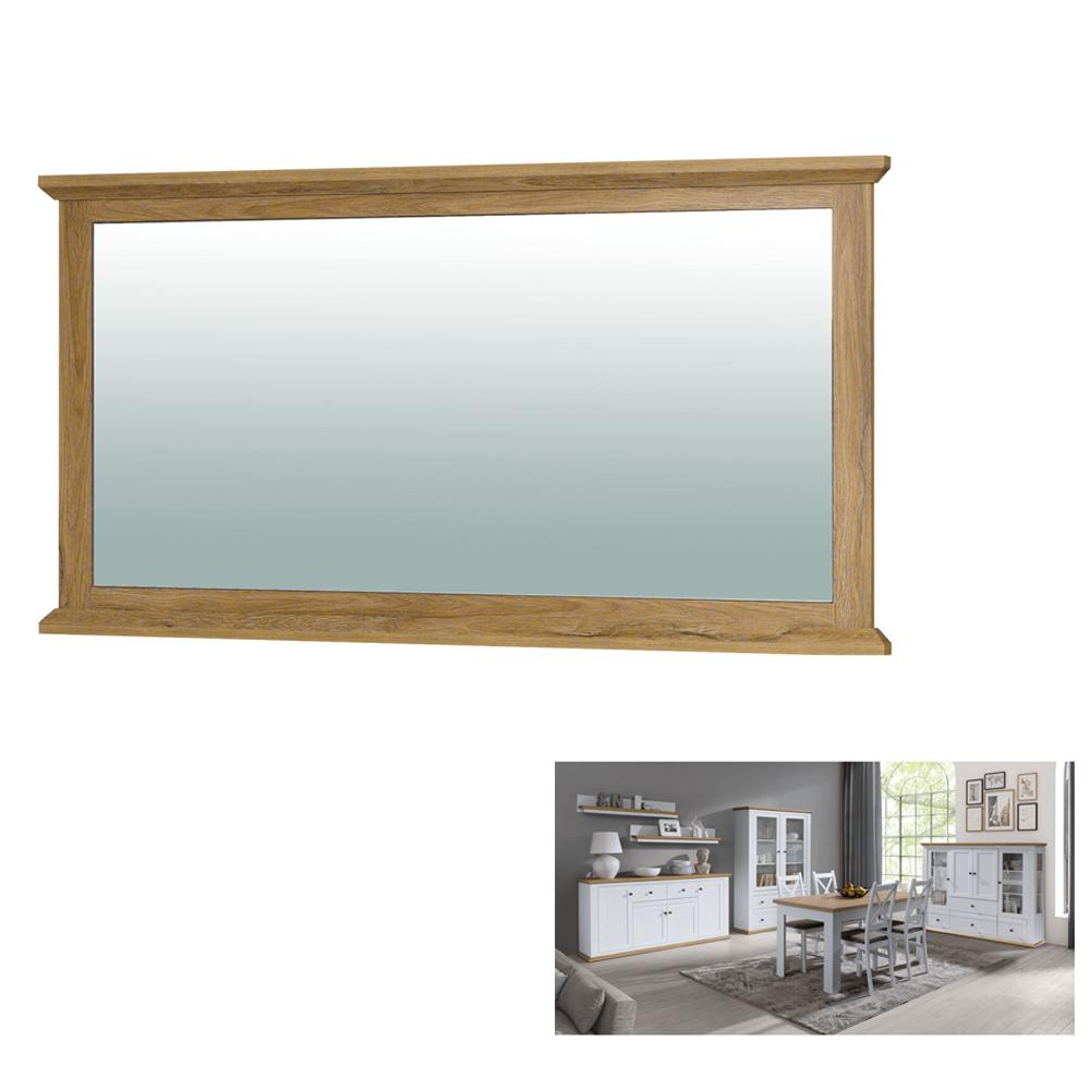 Oglinda MZ16, alb / stejar grand, LEON