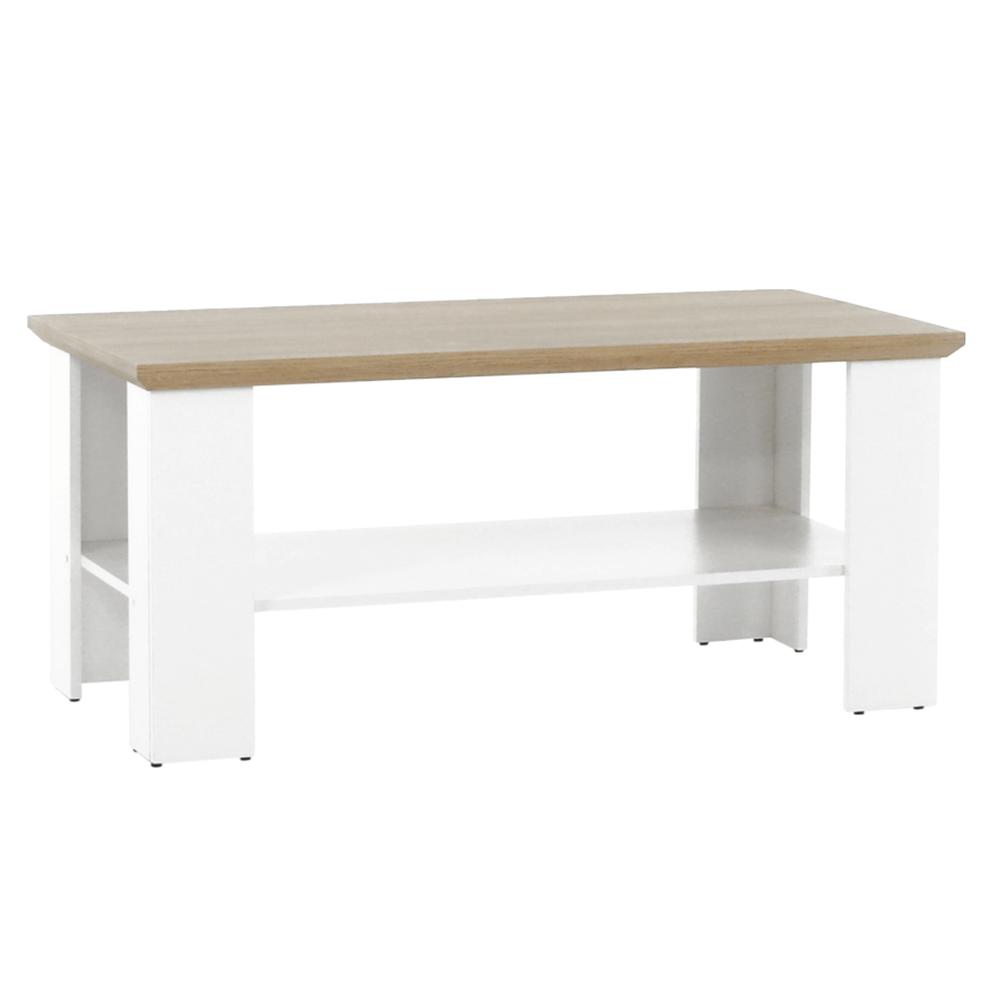Kisasztal MZ17, fehér/grand tölgy, LEON