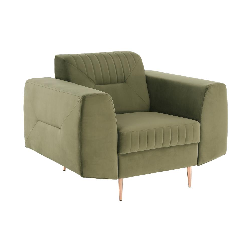 Fotel, zöld/réz, LEXUS