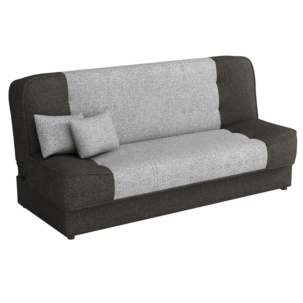 Canapea extensibilă, maro/maro deschis, ASIA NEW