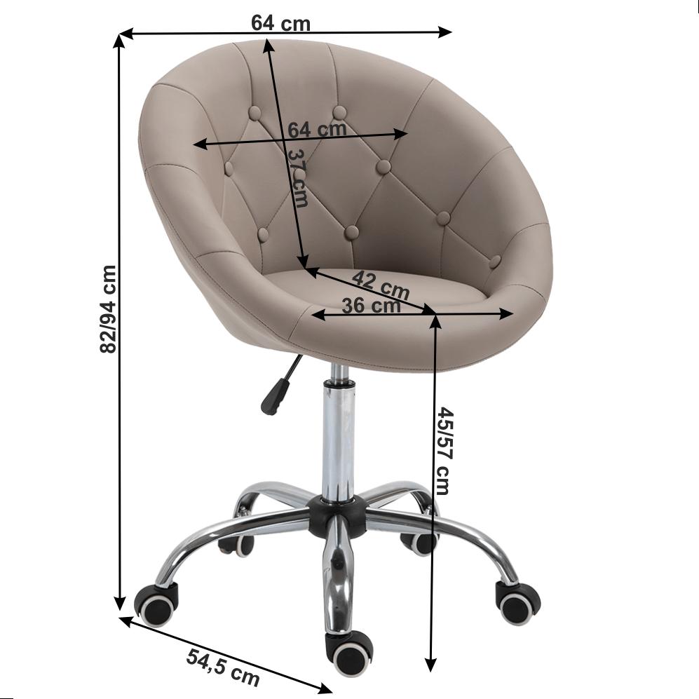 Scaun dining rotativ Konor Taupe