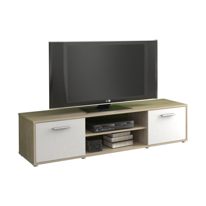 TV stolík/skrinka, dub sonoma/biela, ZUNO 01