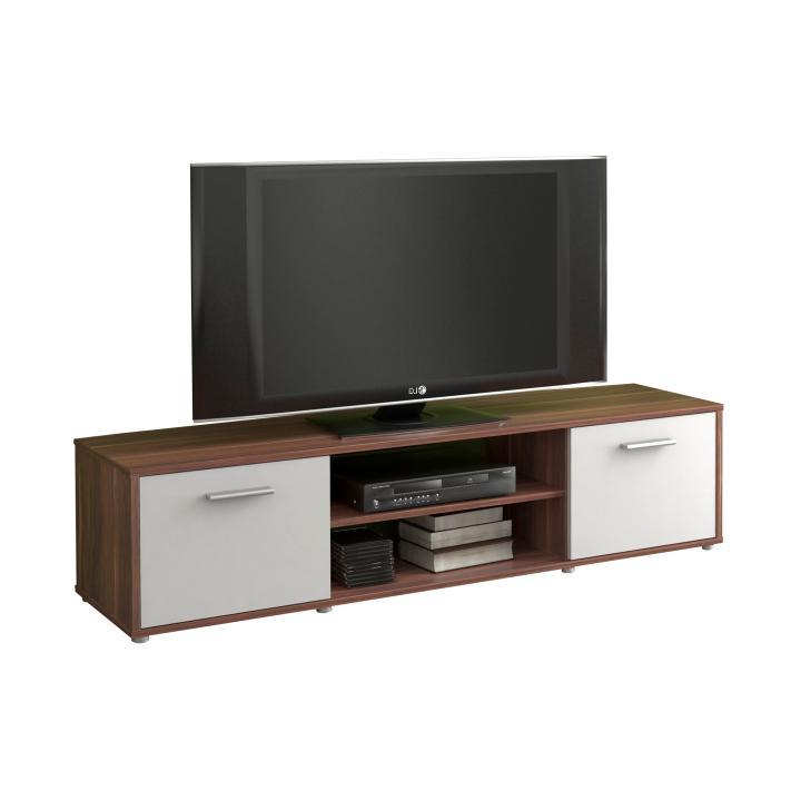 TEMPO KONDELA TV stolík/skrinka, slivka/biela, ZUNO 01 - Tempo nábytek