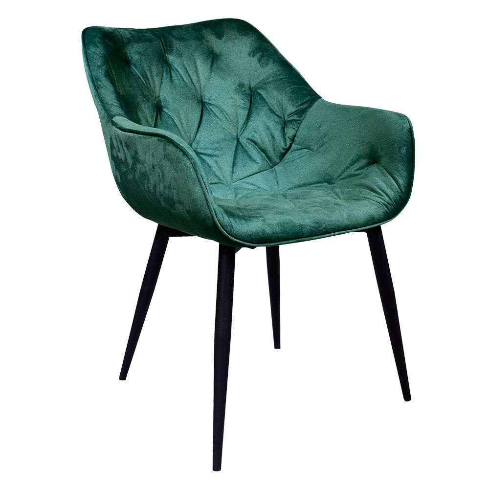 Designové křeslo, zelená Velvet  látka, FEDRIS