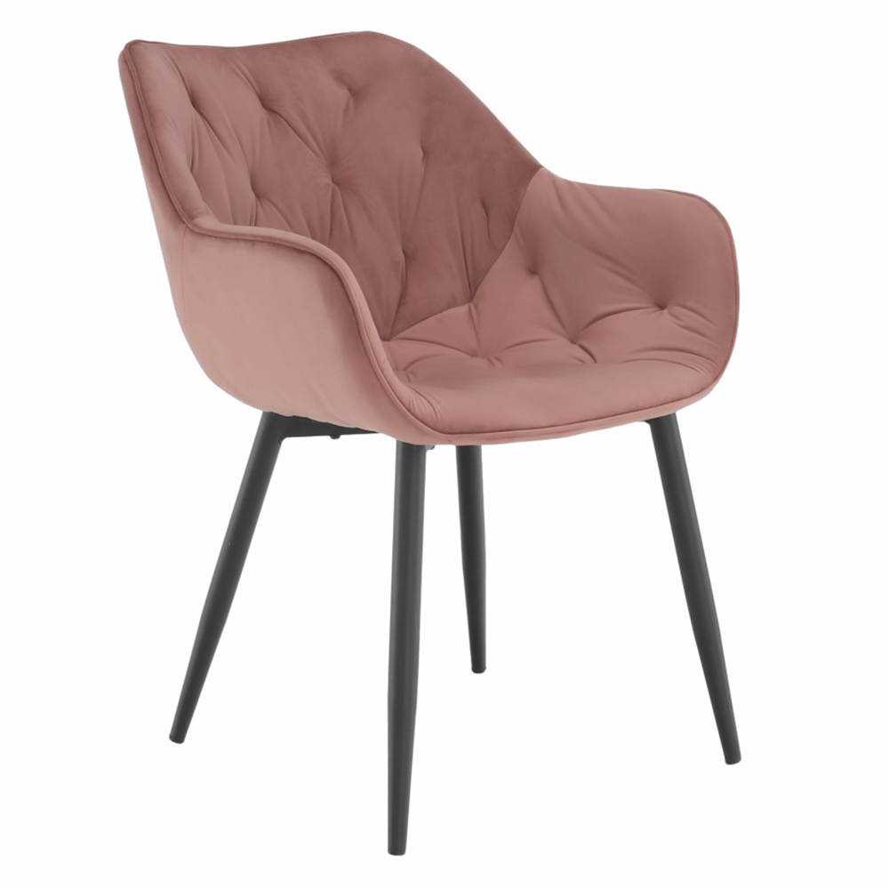 Designové křeslo, růžová Velvet látka, FEDRIS, TEMPO KONDELA