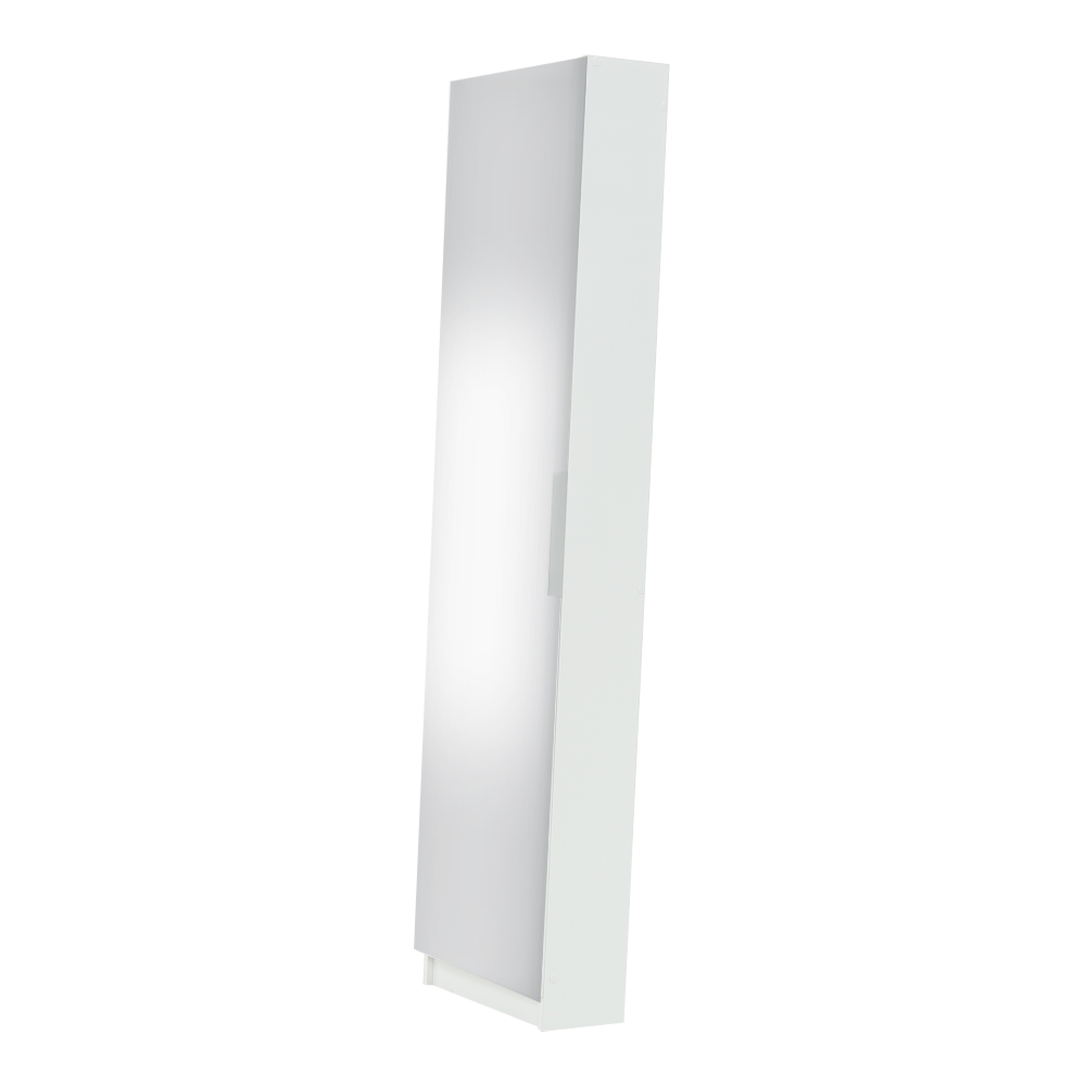 Botník, bílá / zrcadlo, KAPATER 304997, TEMPO KONDELA