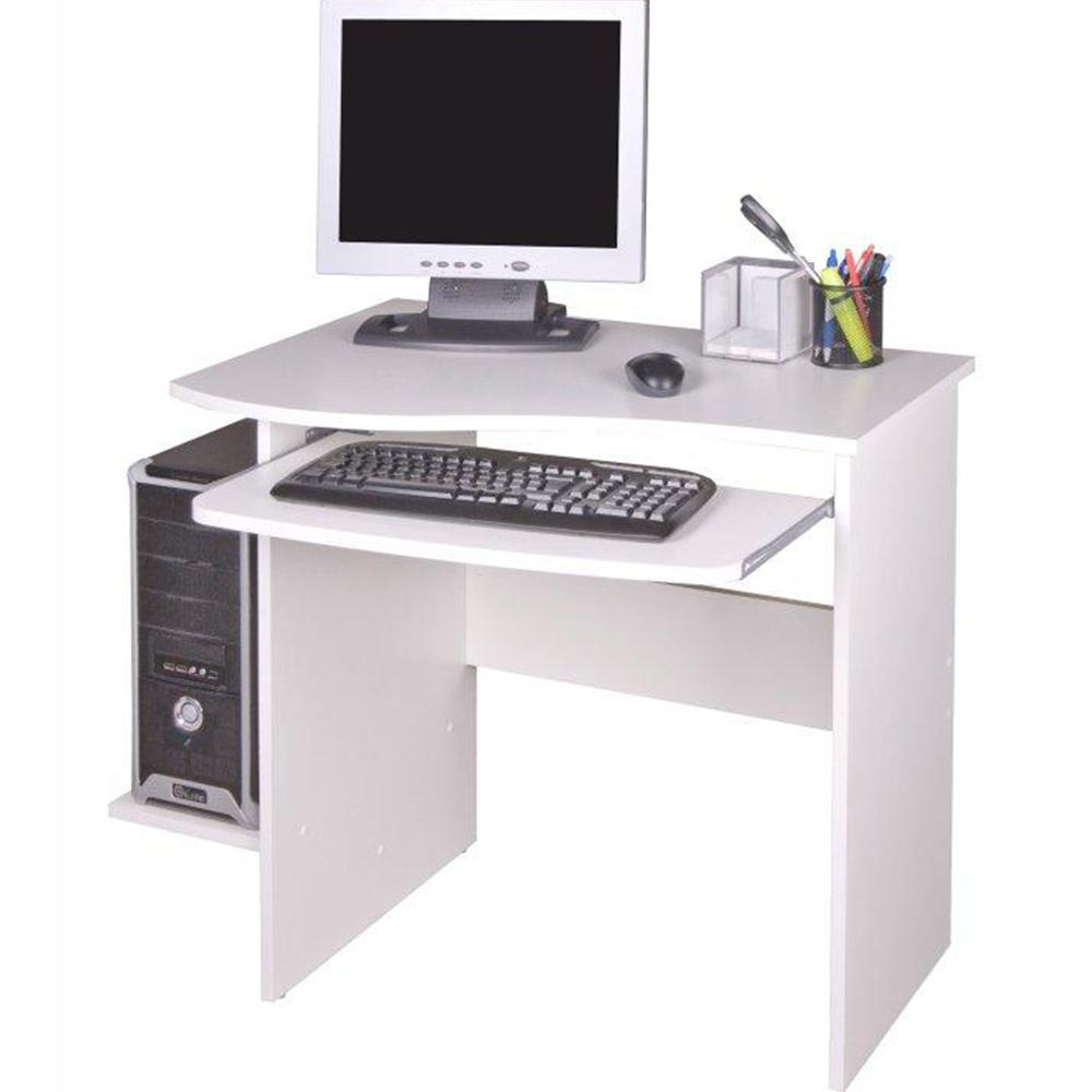 PC stůl, bílá, MELICHAR, TEMPO KONDELA