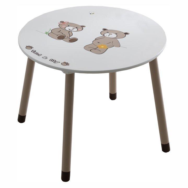 Detský stolík, čokoládová/biela, PUFF 234550