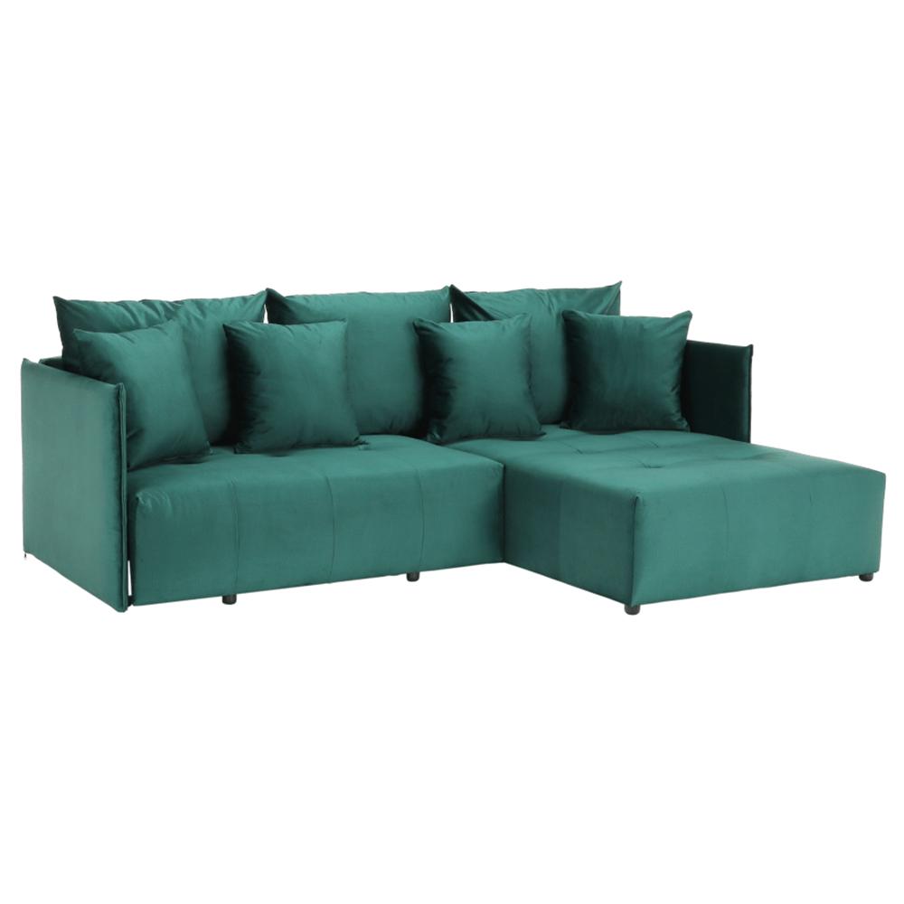 Univerzális ülőgarnitúra, smaragd, LENY