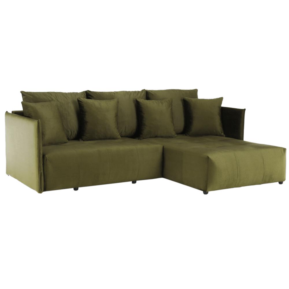 Univerzális ülőgarnitúra, olivazöld, LENY