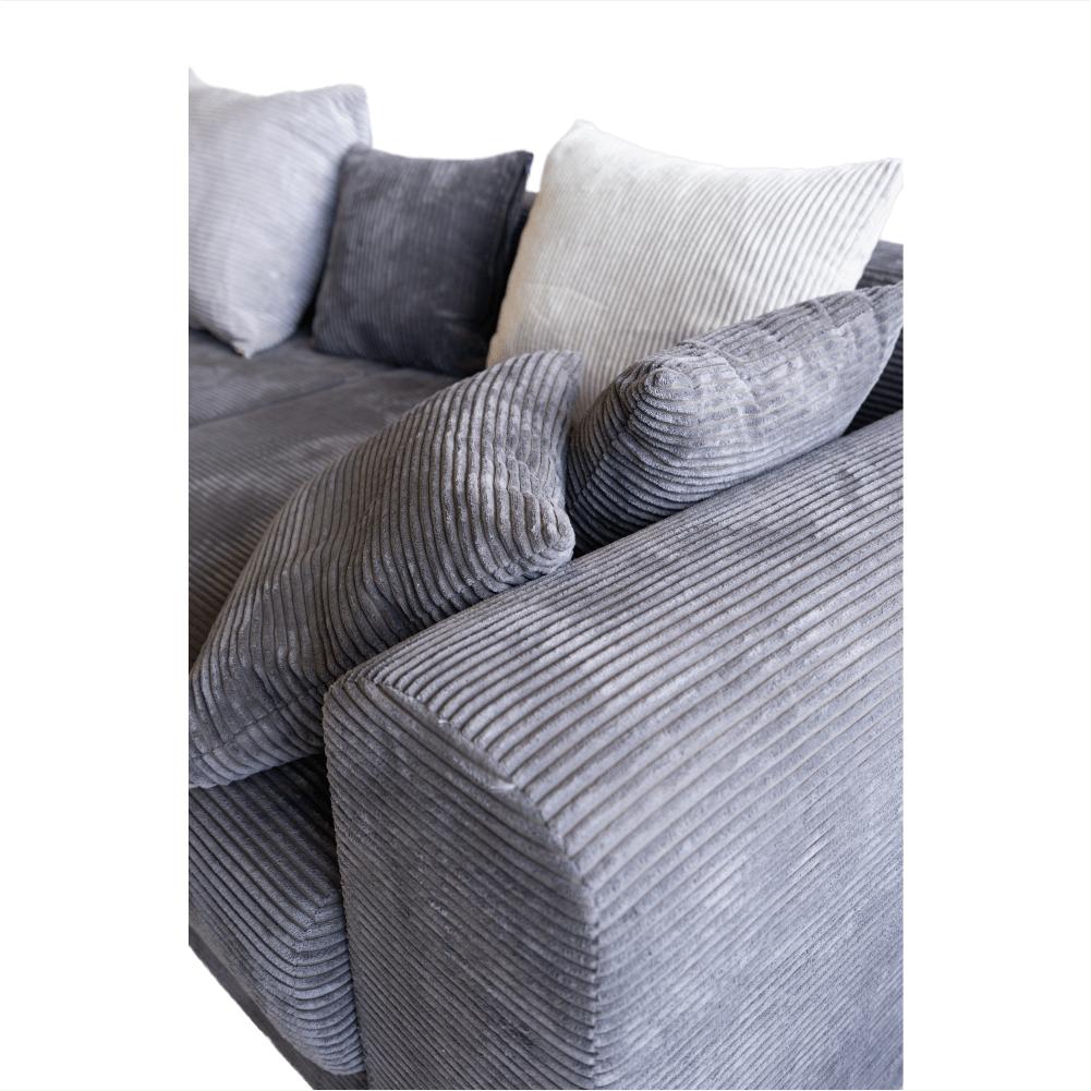 Canapea extensibila cu spatiu depozitare Gilen Gri