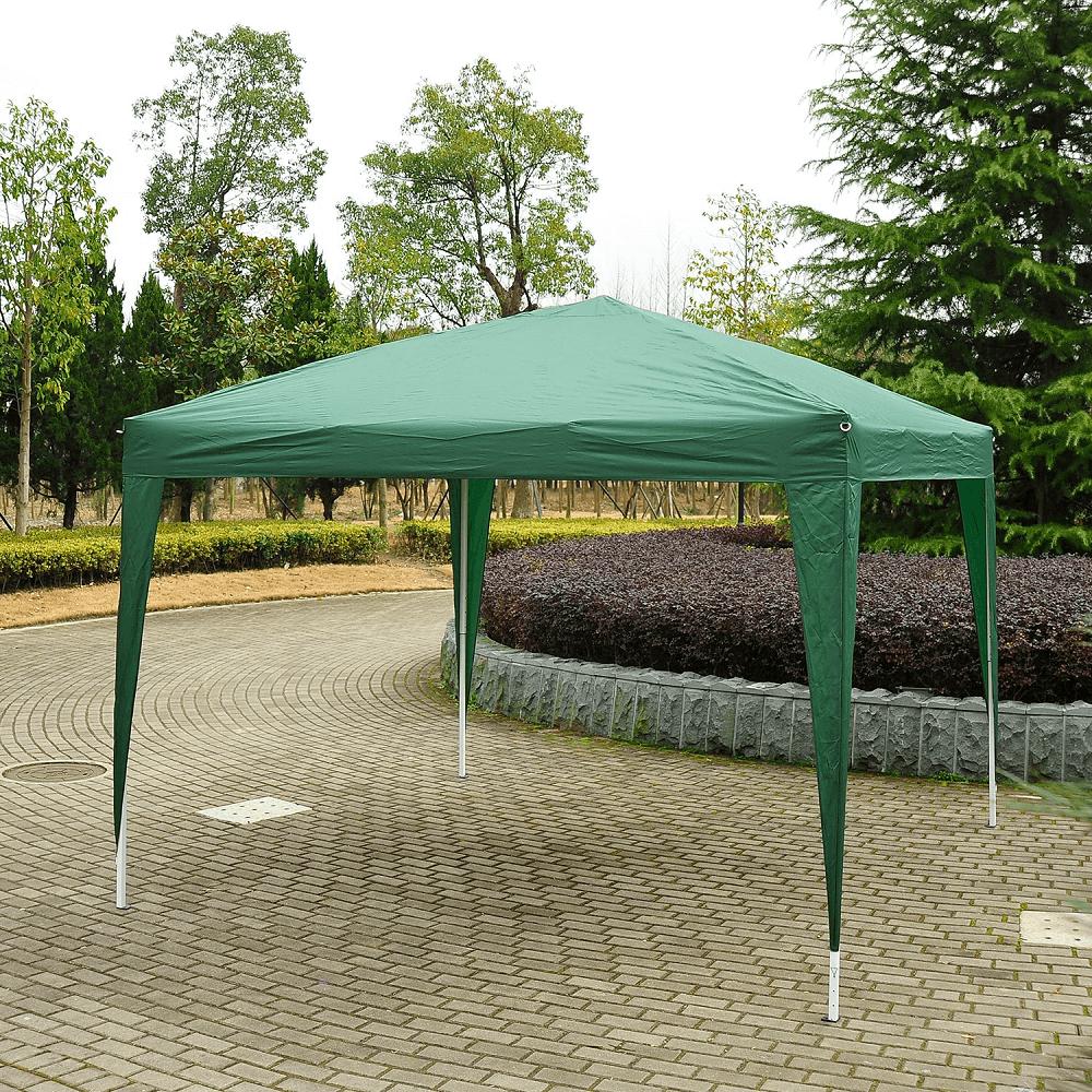Nůžkový skládací zahradní altánek / pavilon, zelená, 2x2 m, TREKAN TYP 1