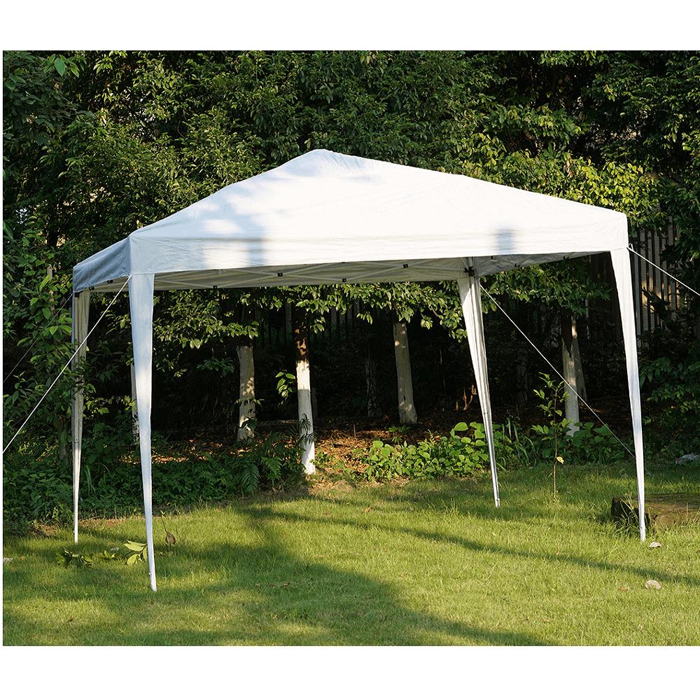 Nůžkový skládací zahradní altánek / pavilon, bílá, 3x3 m, TREKAN TYP 2