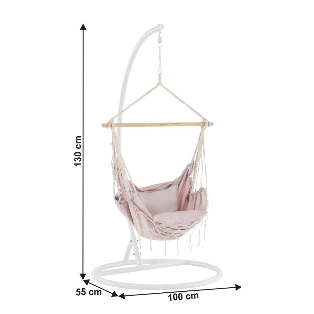 Fotoliu balansoar suspendabil, roz învechit, OFRAME