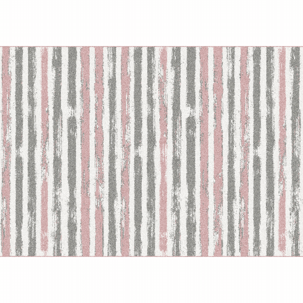 Covor, roz/gri/alb, 57x90, KARAN