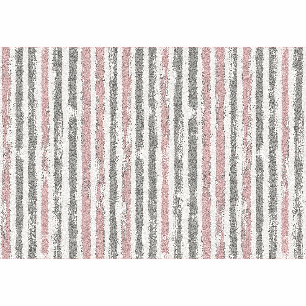 Koberec, růžová/šedá/bílá, 133x190, KARAN