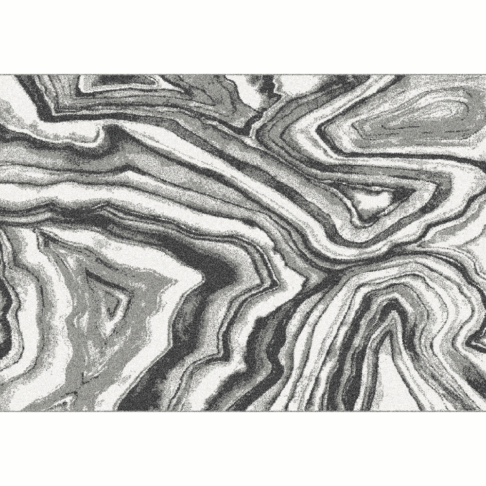 Koberec,  biela/čierna/vzor, 67x120, SINAN