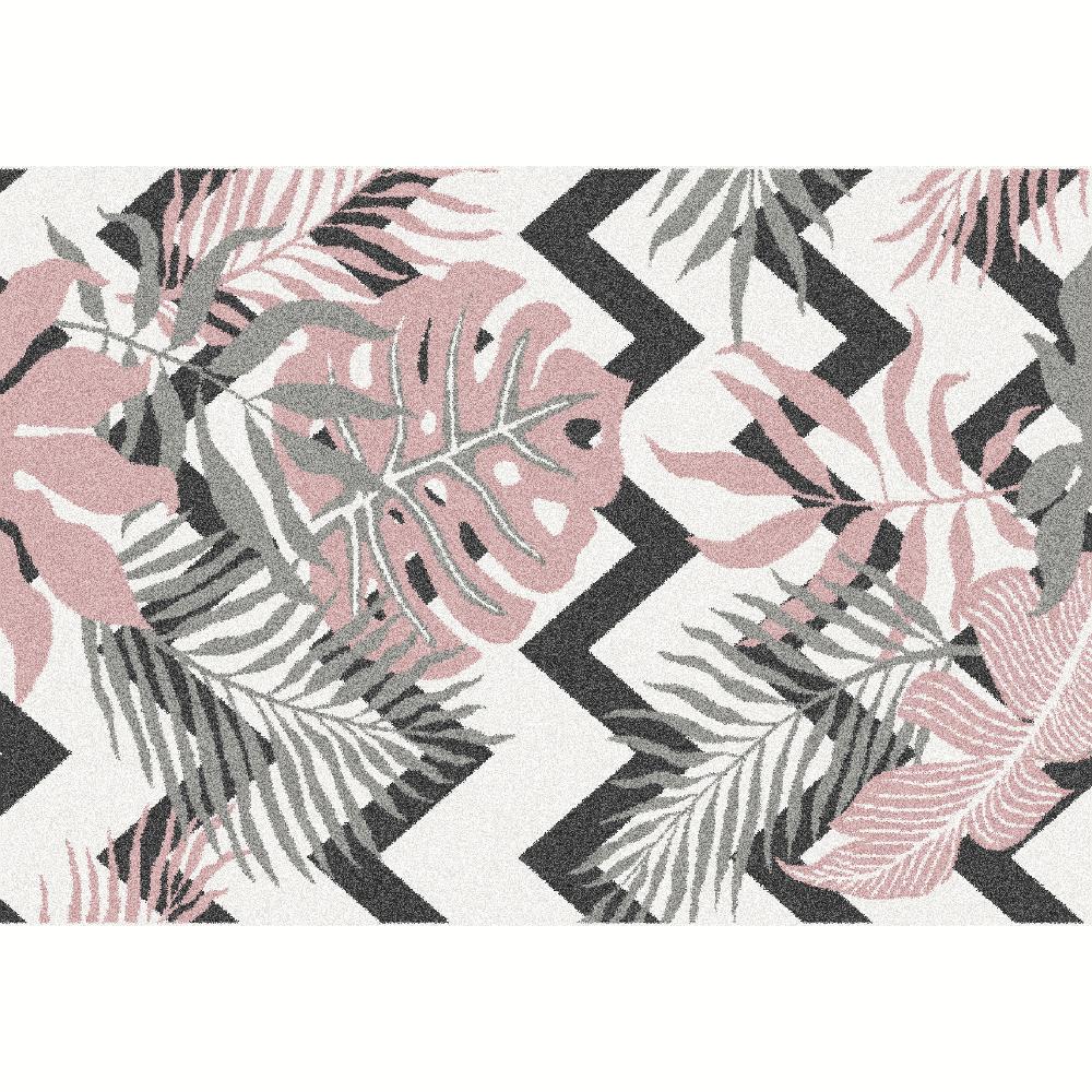 Koberec, viacfarebný, vzor listy, 57x90, SELIM