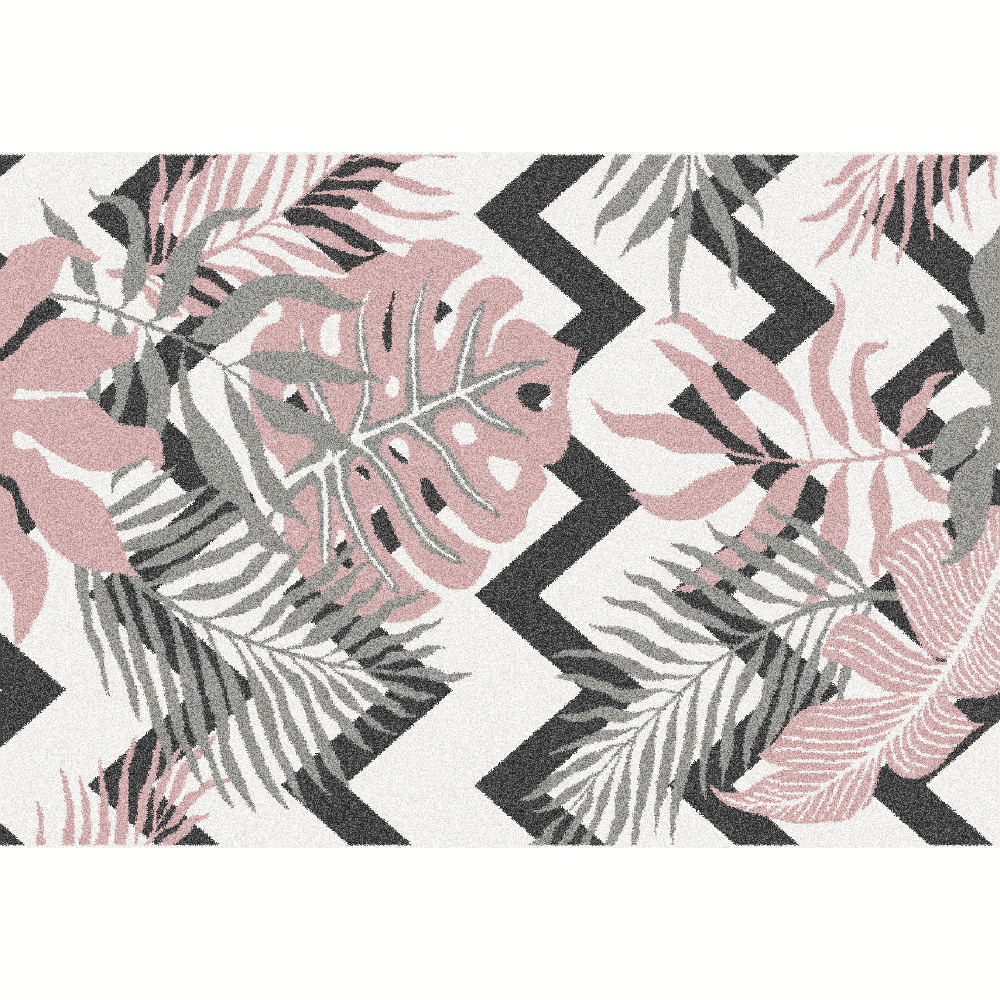 Koberec, viacfarebný, vzor listy, 67x120, SELIM