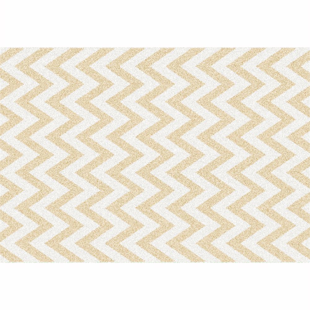 Koberec, béžovo-biela vzor, 133x190, ADISA TYP 2