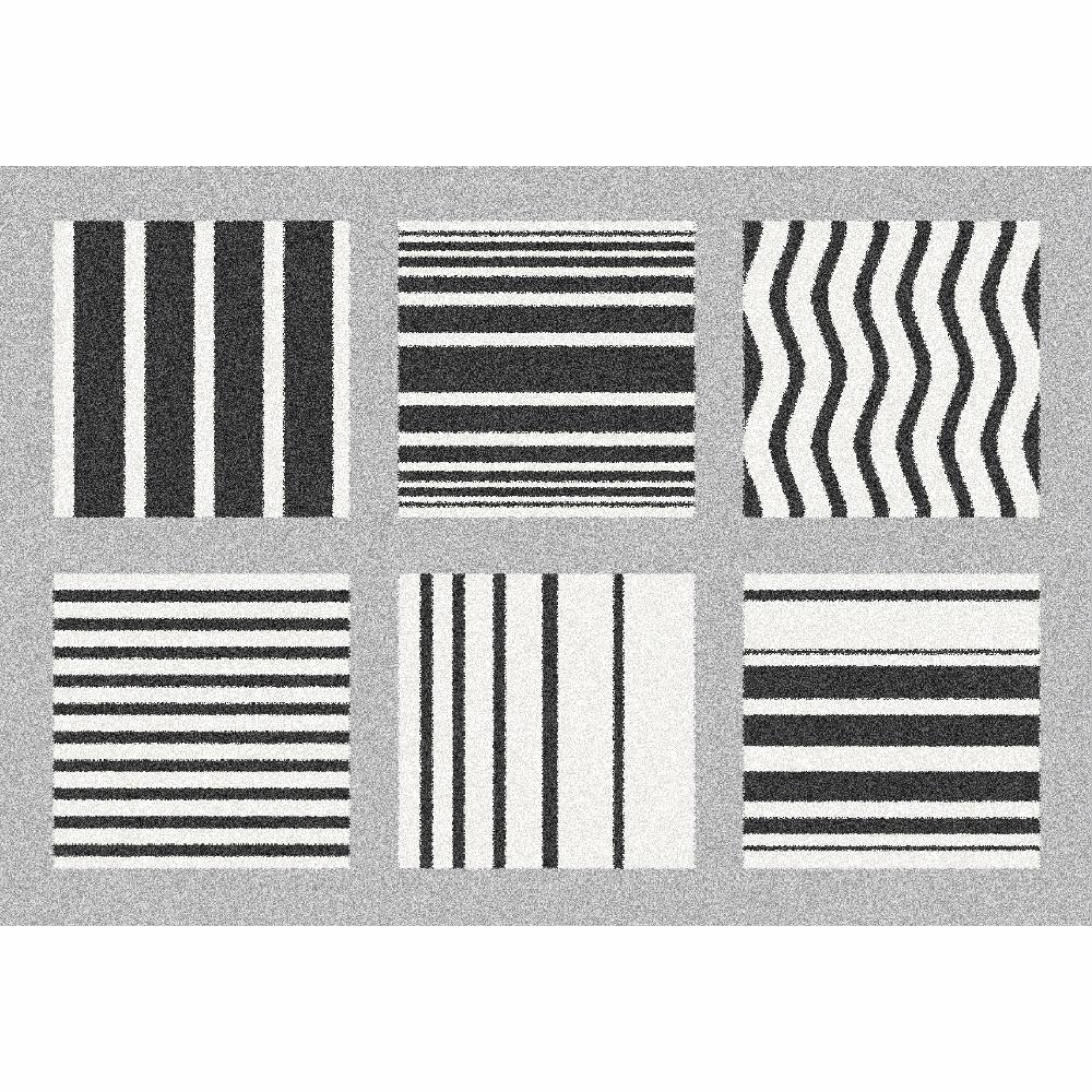Koberec, šedá/vzor, 133x190, ALMAS