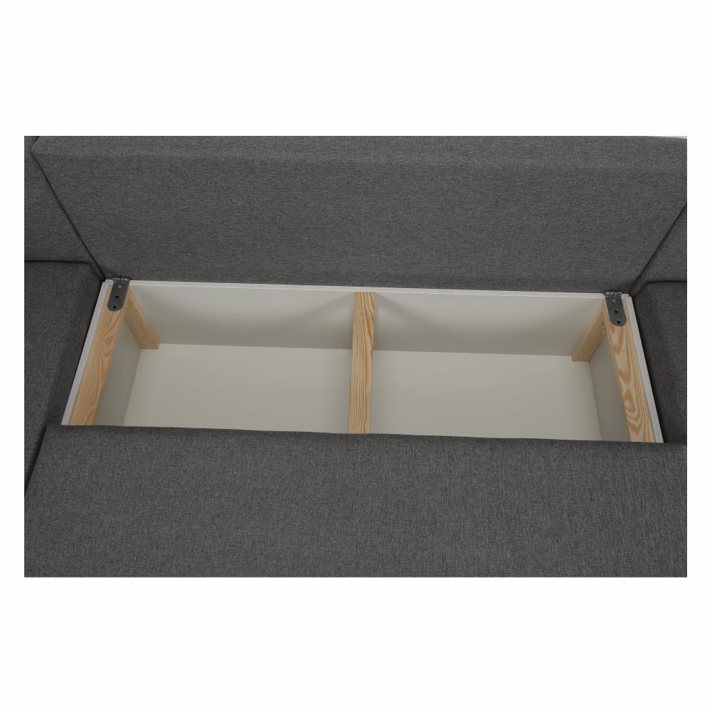 Coltar ,canapea universala reversibila,extensibil, stofa,96 gri închis / 90 gri, 314x75/85x153/211 cm, Anisia 24