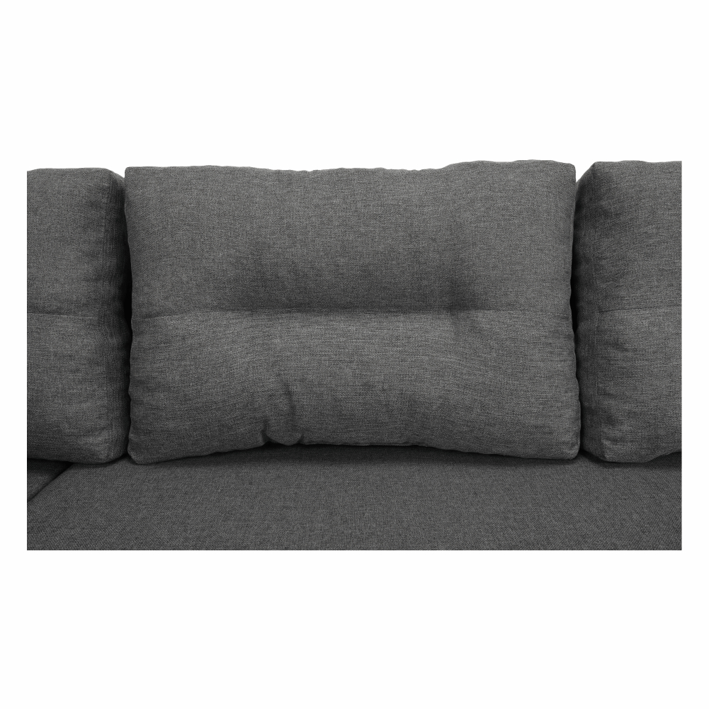Coltar ,canapea universala reversibila,extensibil, stofa,96 gri închis / 90 gri, 314x75/85x153/211 cm, Anisia 22