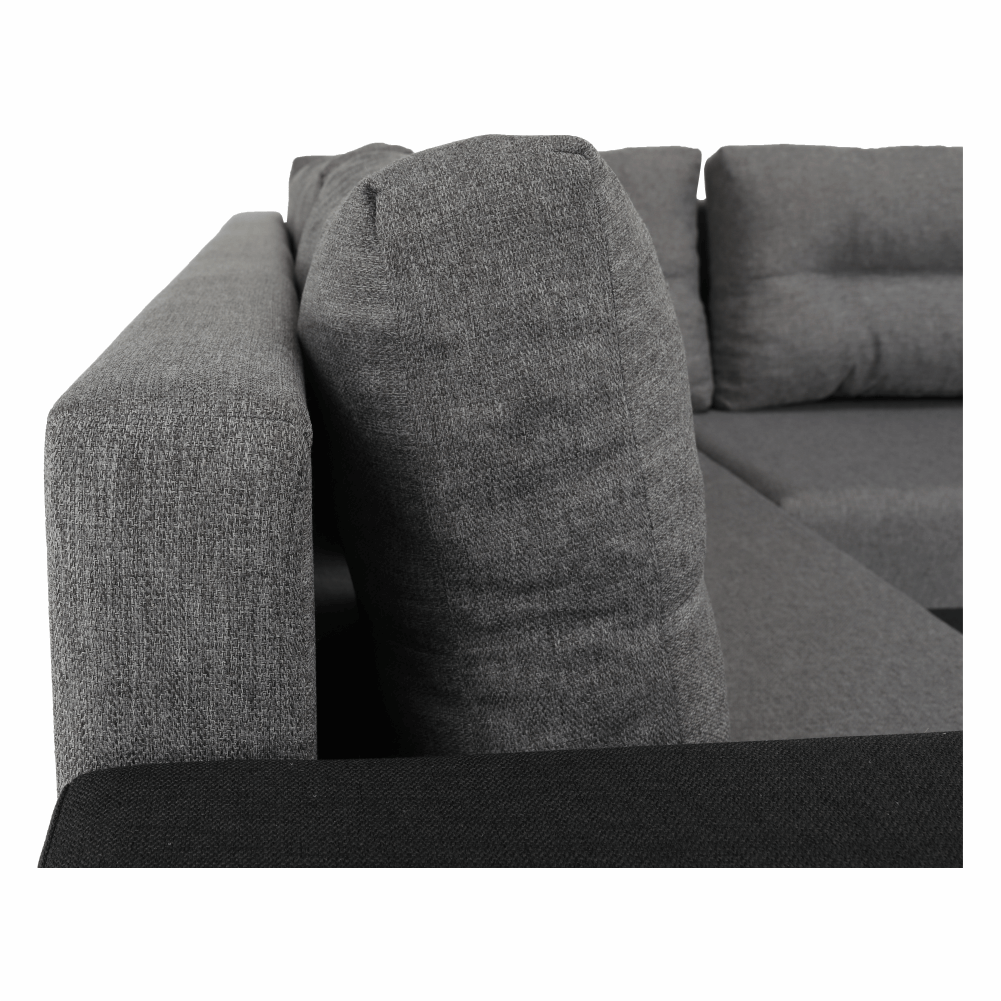 Coltar ,canapea universala reversibila,extensibil, stofa,96 gri închis / 90 gri, 314x75/85x153/211 cm, Anisia 20