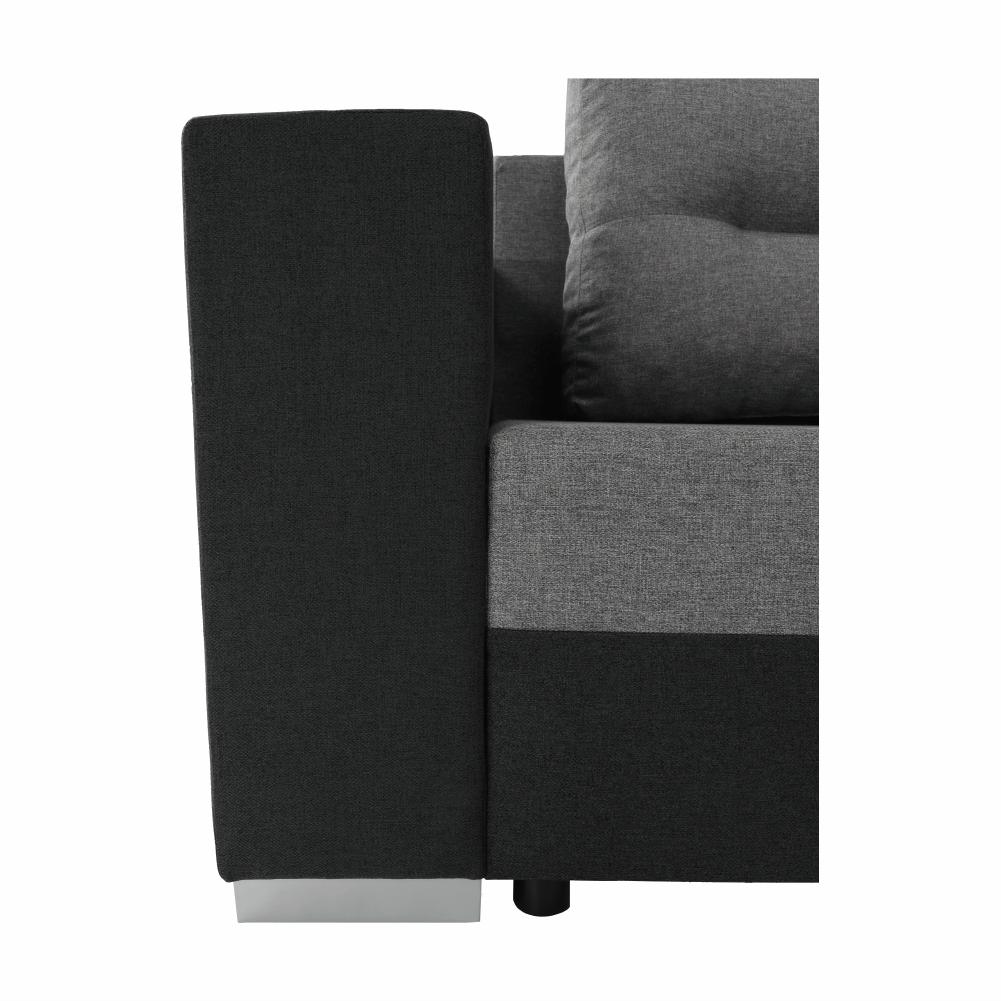 Coltar ,canapea universala reversibila,extensibil, stofa,96 gri închis / 90 gri, 314x75/85x153/211 cm, Anisia 19