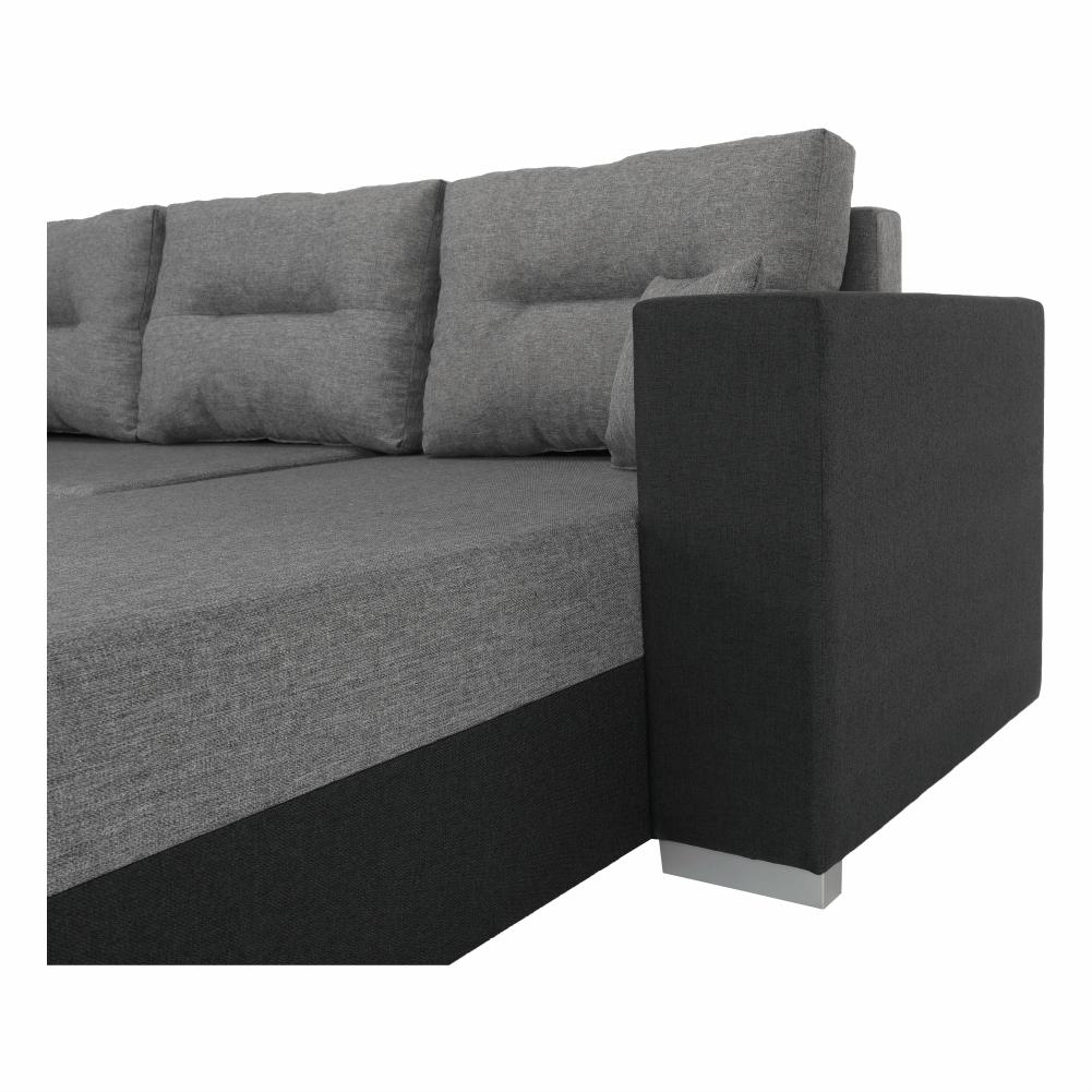 Coltar ,canapea universala reversibila,extensibil, stofa,96 gri închis / 90 gri, 314x75/85x153/211 cm, Anisia 18