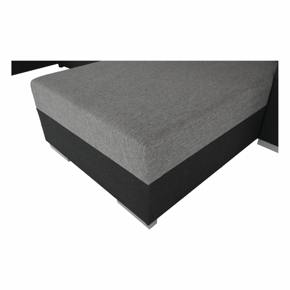 Coltar ,canapea universala reversibila,extensibil, stofa,96 gri închis / 90 gri, 314x75/85x153/211 cm, Anisia 17