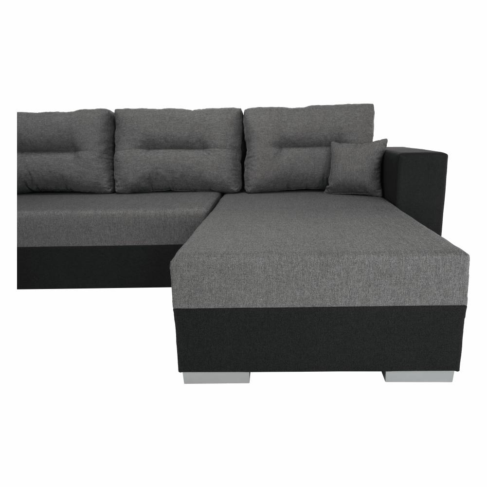 Coltar ,canapea universala reversibila,extensibil, stofa,96 gri închis / 90 gri, 314x75/85x153/211 cm, Anisia 16