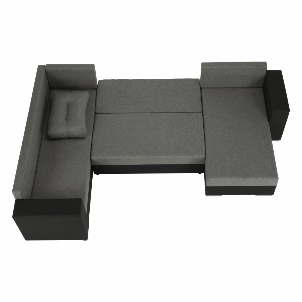 Coltar ,canapea universala reversibila,extensibil, stofa,96 gri închis / 90 gri, 314x75/85x153/211 cm, Anisia 15