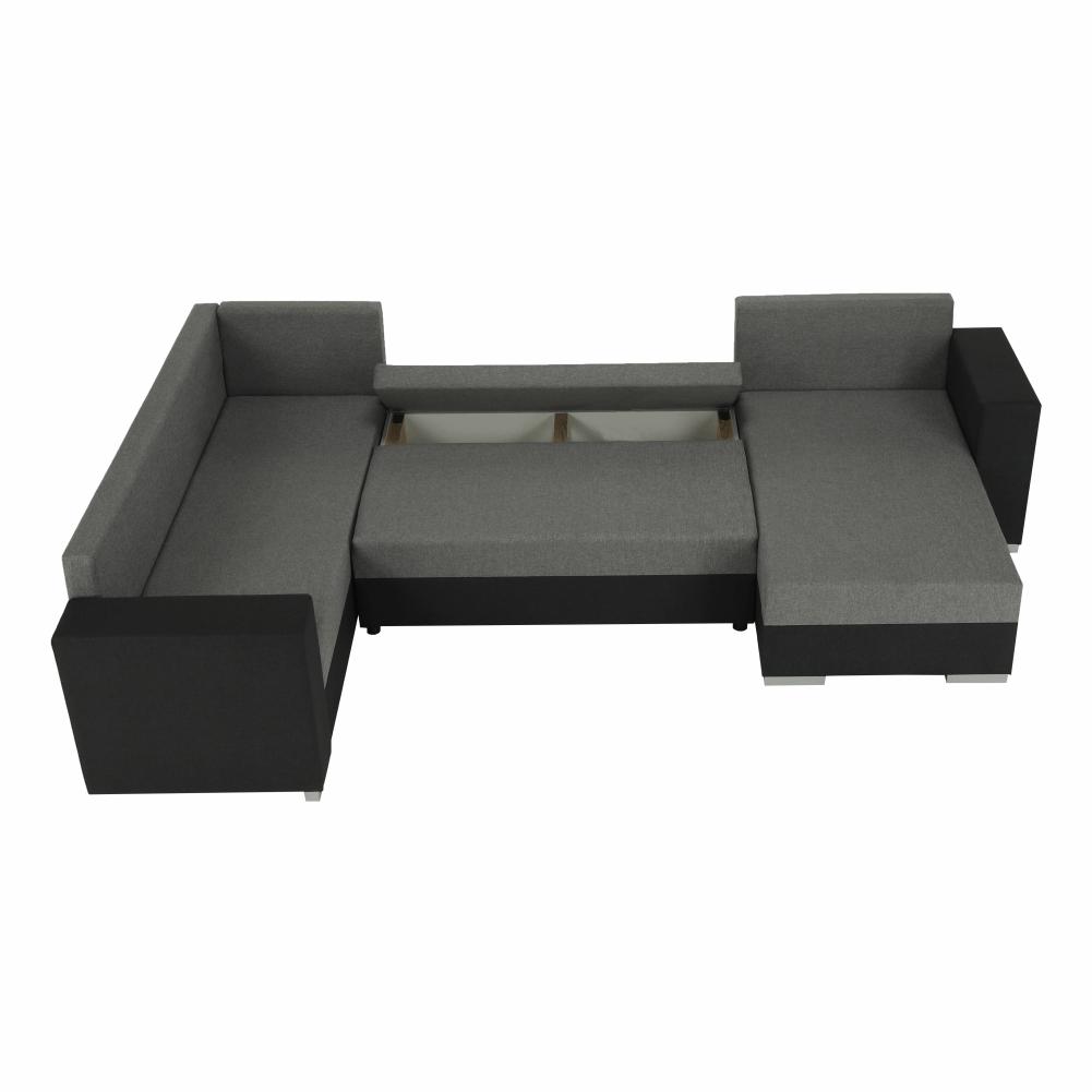Coltar ,canapea universala reversibila,extensibil, stofa,96 gri închis / 90 gri, 314x75/85x153/211 cm, Anisia 14