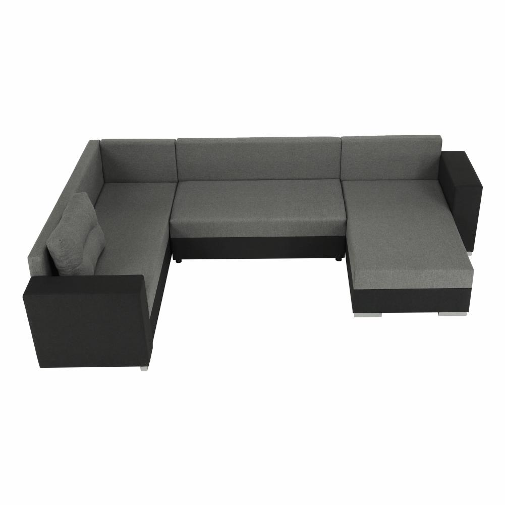 Coltar ,canapea universala reversibila,extensibil, stofa,96 gri închis / 90 gri, 314x75/85x153/211 cm, Anisia 13