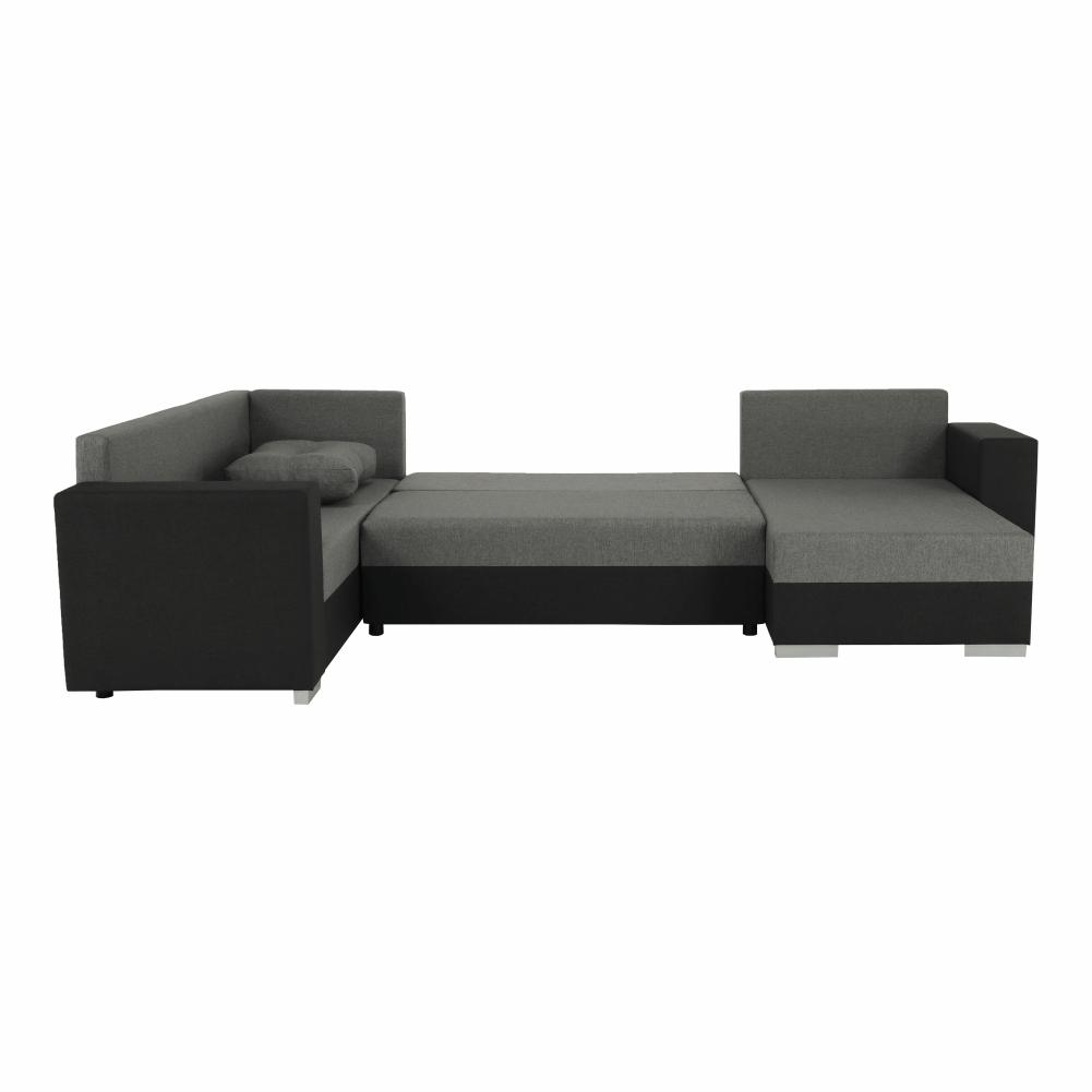 Coltar ,canapea universala reversibila,extensibil, stofa,96 gri închis / 90 gri, 314x75/85x153/211 cm, Anisia 11