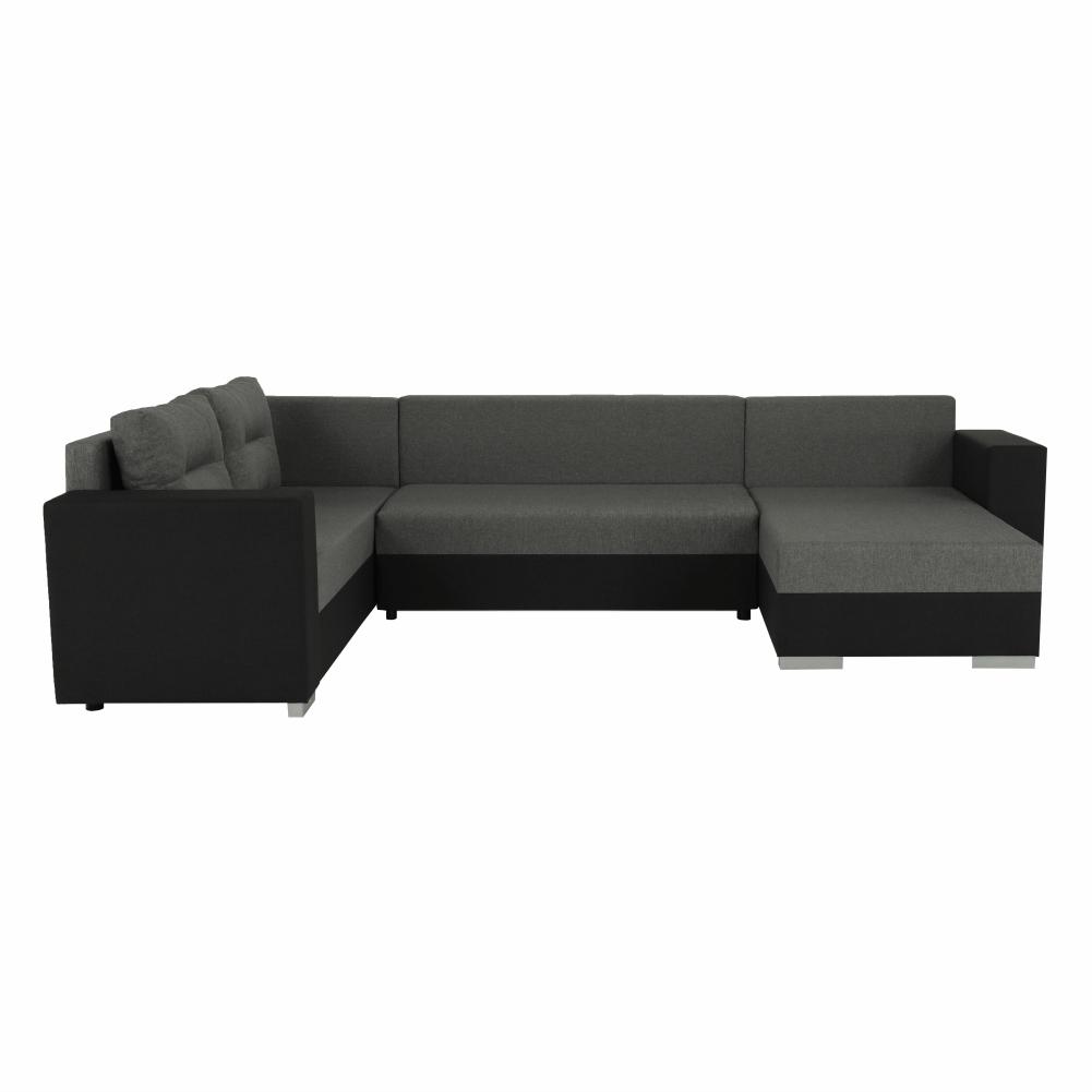Coltar ,canapea universala reversibila,extensibil, stofa,96 gri închis / 90 gri, 314x75/85x153/211 cm, Anisia 10