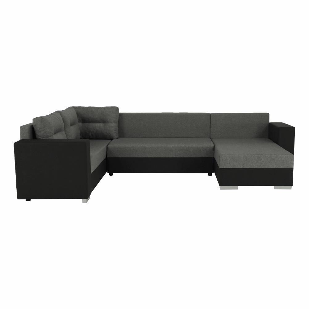 Coltar ,canapea universala reversibila,extensibil, stofa,96 gri închis / 90 gri, 314x75/85x153/211 cm, Anisia 9