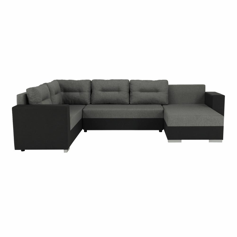 Coltar ,canapea universala reversibila,extensibil, stofa,96 gri închis / 90 gri, 314x75/85x153/211 cm, Anisia 8