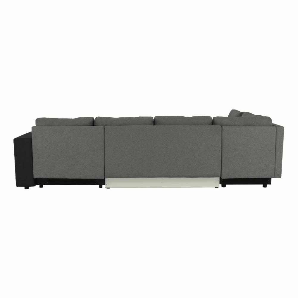 Coltar ,canapea universala reversibila,extensibil, stofa,96 gri închis / 90 gri, 314x75/85x153/211 cm, Anisia 7