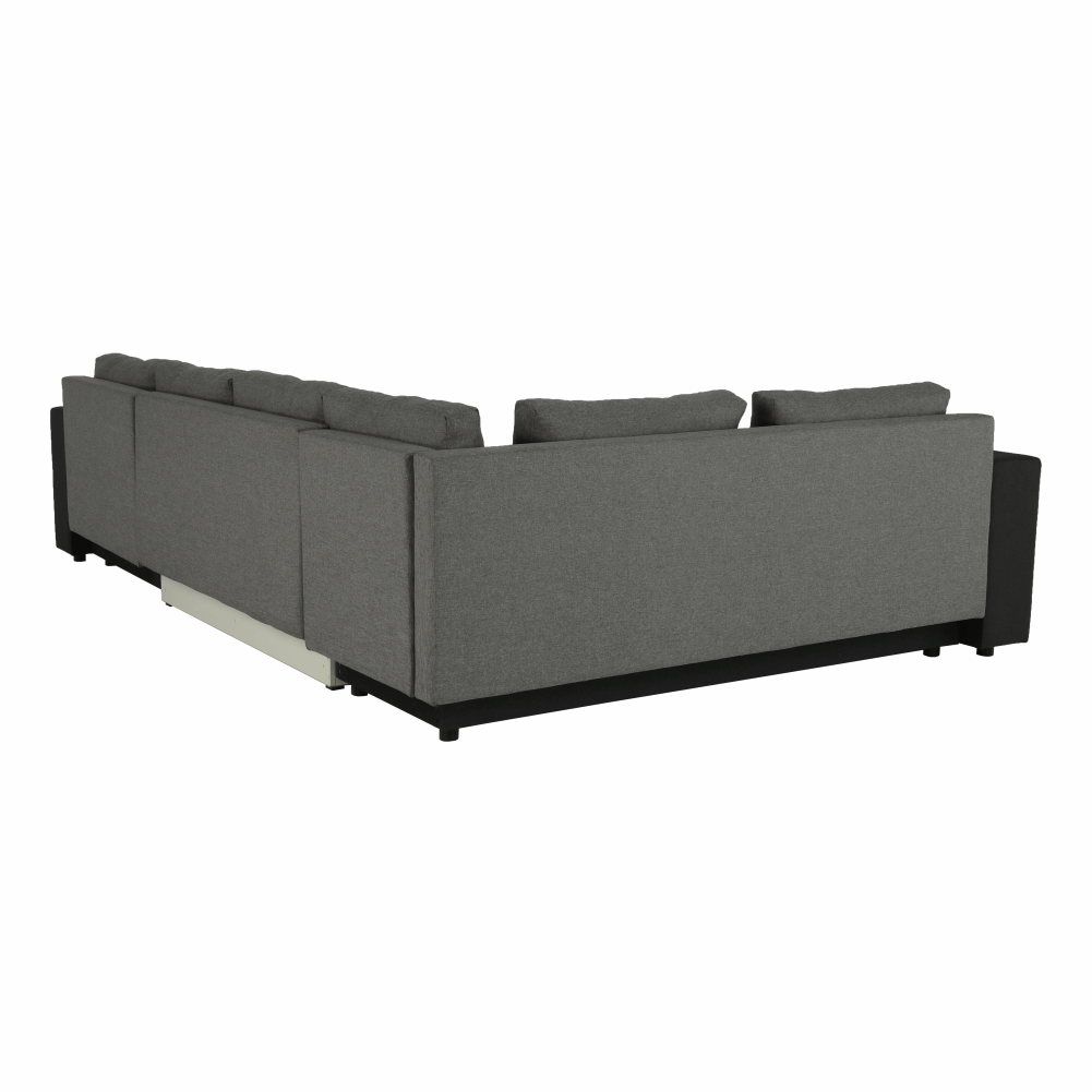 Coltar ,canapea universala reversibila,extensibil, stofa,96 gri închis / 90 gri, 314x75/85x153/211 cm, Anisia 5
