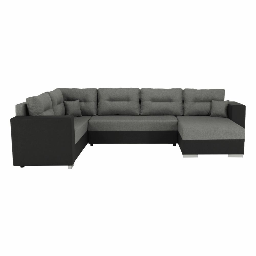 Coltar ,canapea universala reversibila,extensibil, stofa,96 gri închis / 90 gri, 314x75/85x153/211 cm, Anisia 3
