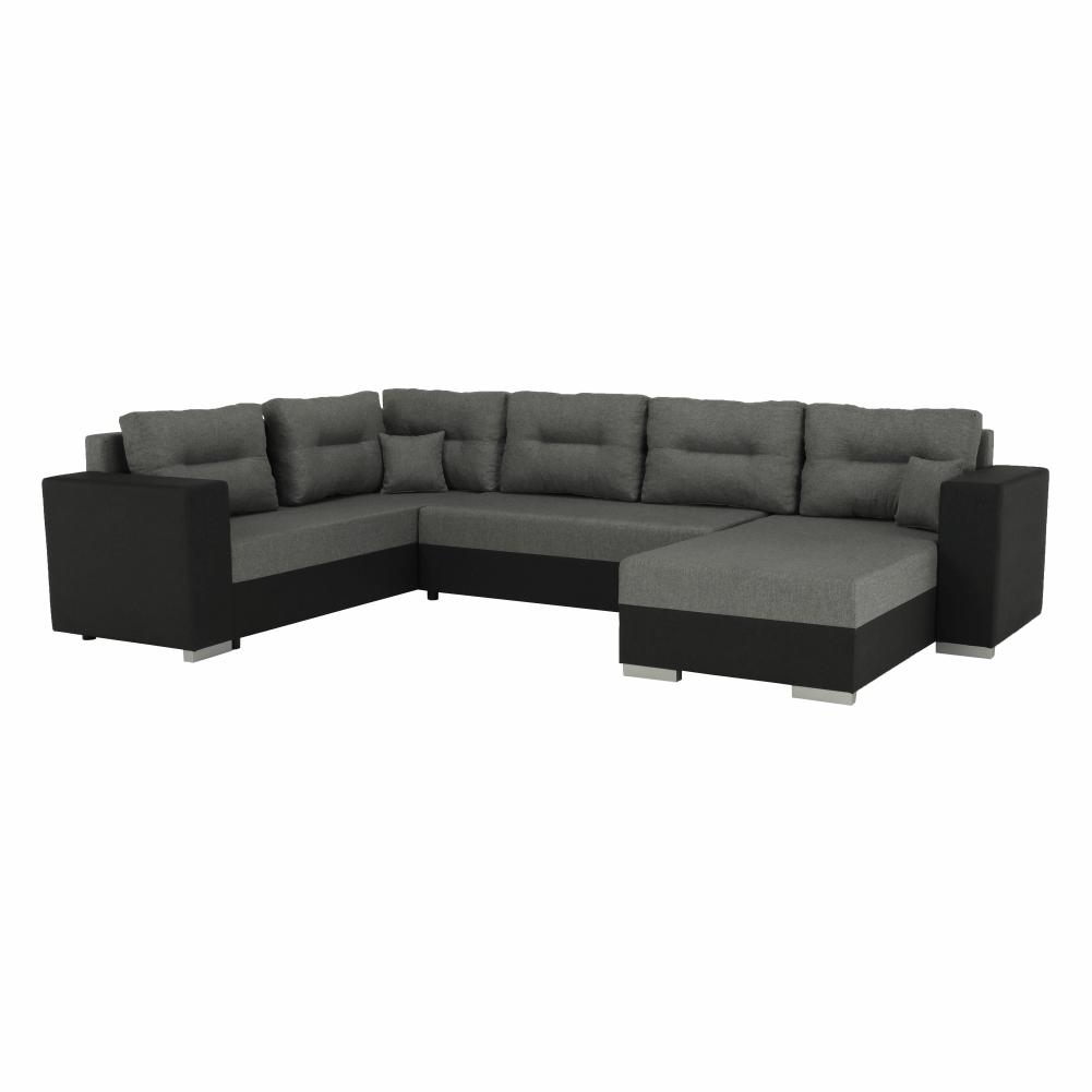 Coltar ,canapea universala reversibila,extensibil, stofa,96 gri închis / 90 gri, 314x75/85x153/211 cm, Anisia 0