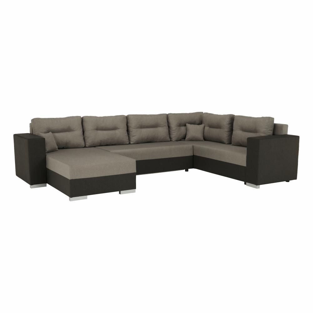 Univerzális ülőgarnitúra, barna/szürkésbarna TAUPE, MERSI