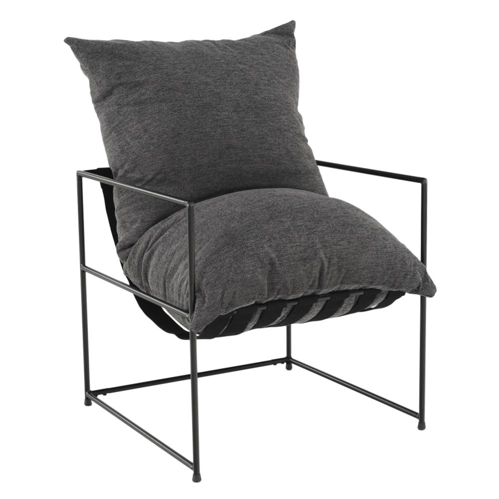 Modern fotel, szürke/fekete, DEKER