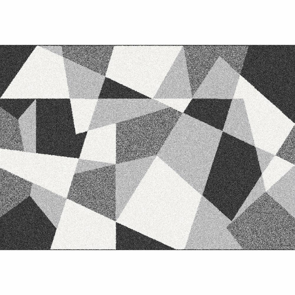 Szőnyeg, fekete/szürke/fehér, 133x190, SANAR